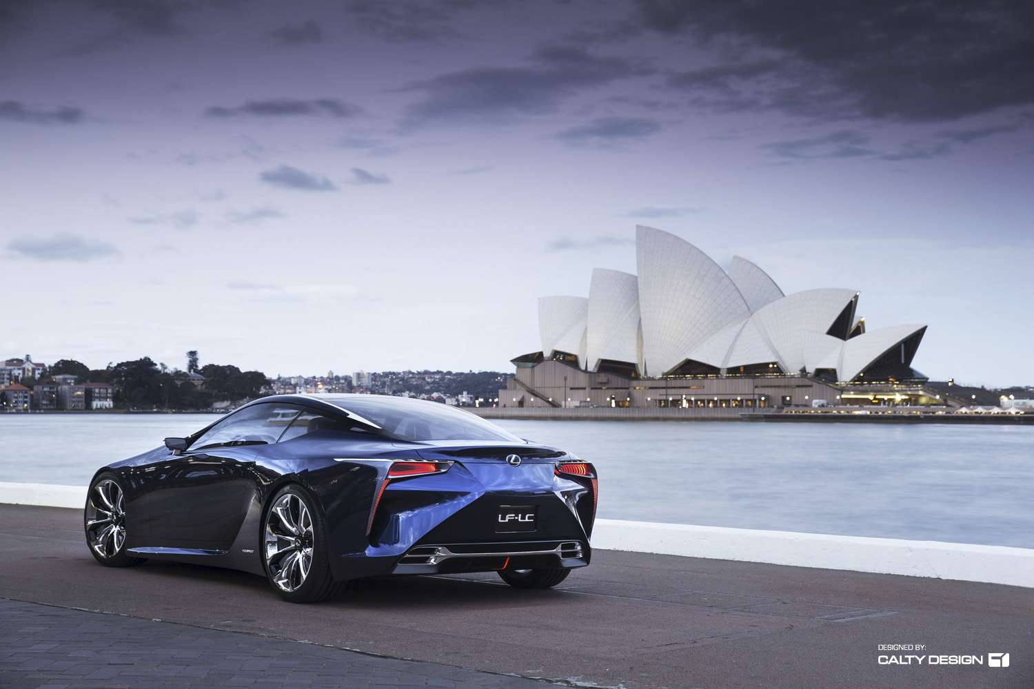 Lexus Lf Lc Concept Blue Five Axis