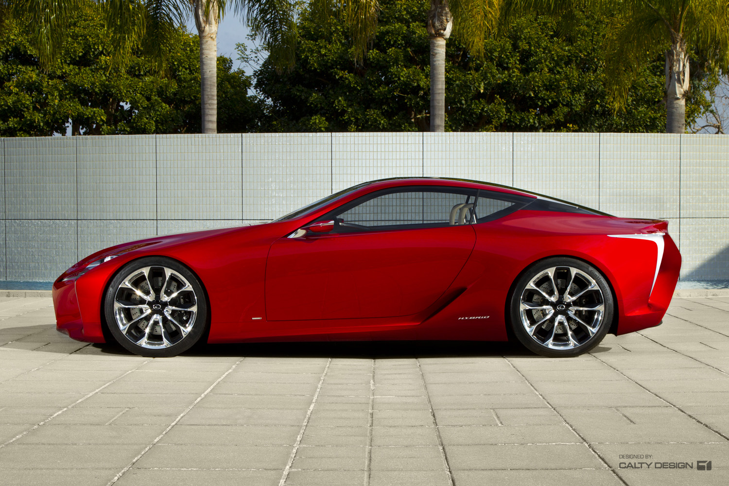 Lexus Lf Lc Concept Red Five Axis